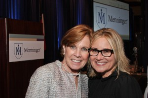 """Maureen Hackett and Maureen McCormick at the Menninger Community Luncheon"""