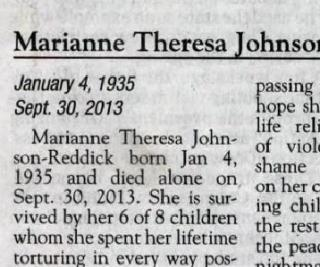 Woman's Obituary Highlights Child Abuse